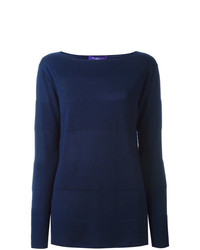 Jersey con cuello circular azul marino de Ralph Lauren