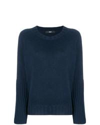 Jersey con cuello circular azul marino de Steffen Schraut