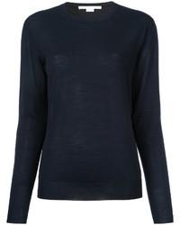 Jersey con cuello circular azul marino de Stella McCartney
