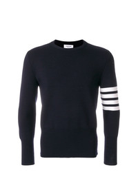 Jersey con cuello circular azul marino de Thom Browne