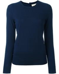 Jersey con cuello circular azul marino de Tory Burch