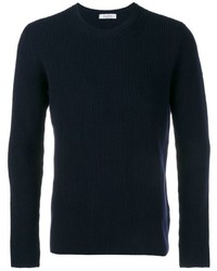 Jersey con Cuello Circular Azul Marino de Valentino
