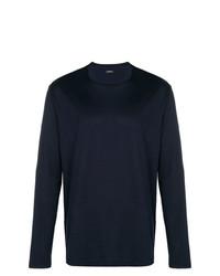 Jersey con cuello circular azul marino de Z Zegna