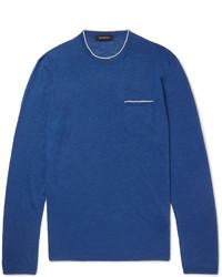 Jersey con cuello circular azul