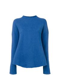 Jersey con cuello circular azul de Aspesi