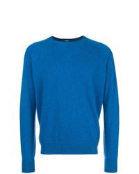 Jersey con cuello circular azul de Barba