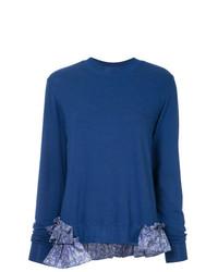 Jersey con cuello circular azul de Clu