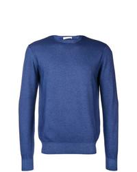 Jersey con cuello circular azul de Cruciani