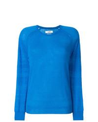 Jersey con cuello circular azul de Isabel Marant Etoile