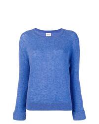 Jersey con cuello circular azul de Khaite