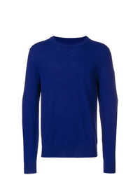 Jersey con cuello circular azul de Maison Margiela