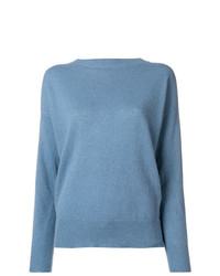 Jersey con cuello circular azul de Pinko