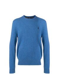 Jersey con cuello circular azul de Polo Ralph Lauren