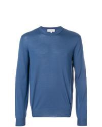 Jersey con cuello circular azul de Salvatore Ferragamo