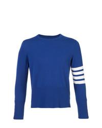 Jersey con cuello circular azul de Thom Browne