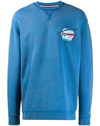 Jersey con cuello circular azul de Tommy Jeans