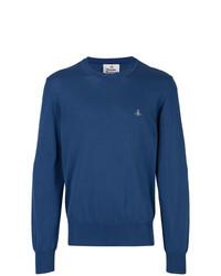 Jersey con cuello circular azul de Vivienne Westwood