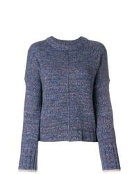 Jersey con cuello circular azul de Zadig & Voltaire