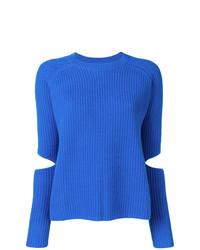 Jersey con cuello circular azul de Zoe Jordan