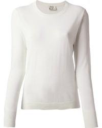 Jersey con cuello circular blanco de Acne Studios