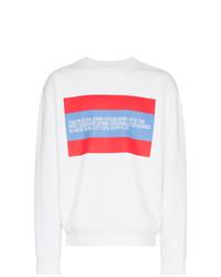 Jersey con cuello circular blanco de Calvin Klein Jeans Est. 1978