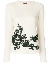 Jersey con cuello circular blanco de Etro