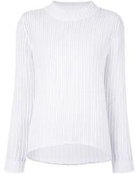 Jersey con cuello circular blanco de Frame Denim