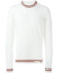 Jersey con cuello circular blanco de Maison Margiela