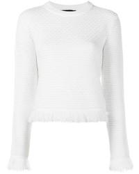 Jersey con Cuello Circular Blanco de Proenza Schouler
