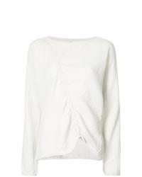 Jersey con cuello circular blanco de Raquel Allegra