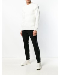 Jersey con cuello circular blanco de Dondup