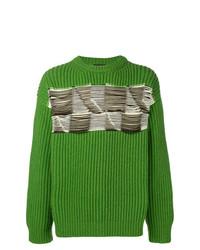 Jersey con cuello circular bordado verde de Calvin Klein 205W39nyc