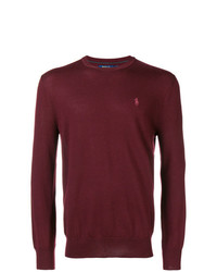 Jersey con cuello circular burdeos de Polo Ralph Lauren