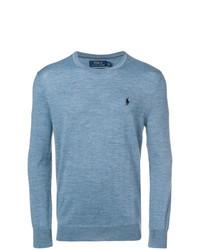 Jersey con cuello circular celeste de Polo Ralph Lauren