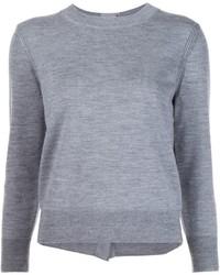 Jersey con cuello circular con adornos gris de Marc Jacobs