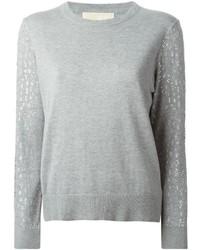 Jersey con cuello circular con adornos gris de MICHAEL Michael Kors