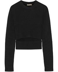 Jersey con cuello circular con recorte negro