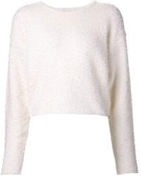 Jersey con cuello circular con relieve blanco de Chloé