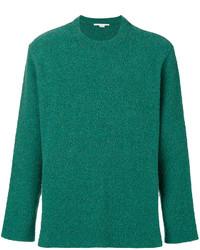 Jersey con cuello circular con relieve verde de Stella McCartney