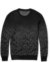 Jersey con cuello circular de camuflaje en gris oscuro