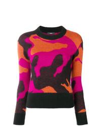 Jersey con cuello circular de camuflaje en multicolor de Diesel