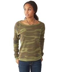 Jersey con cuello circular de camuflaje verde oliva de Alternative