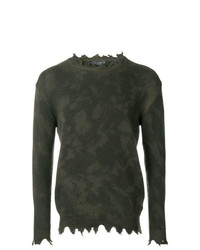 Jersey con cuello circular de camuflaje verde oscuro de Overcome