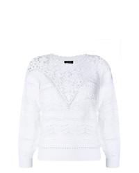 Jersey con cuello circular de crochet blanco de Isabel Marant
