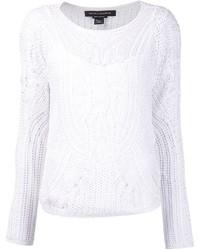 Jersey con cuello circular de crochet blanco de Ralph Lauren