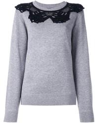 Jersey con cuello circular de crochet gris de Marc Jacobs