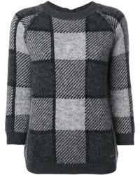 Jersey con cuello circular de mohair en gris oscuro de Woolrich