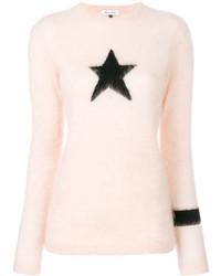 Jersey con cuello circular de mohair rosado de Bella Freud