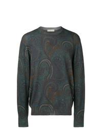 Jersey con cuello circular de paisley en multicolor de Etro