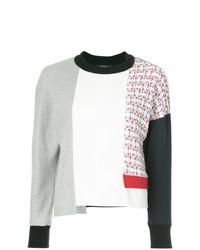 Jersey con cuello circular de patchwork blanco de Loveless